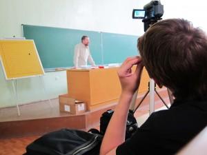 Лекцию Игоря Гришина снимает Сергей Марченко